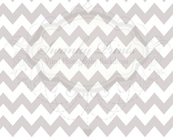 9ft x 6ft Vinyl Photography Backdrop / Thick Silver Chevron