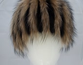 Designer Fur Wig Hat FOX and RACCOON Knitted Base Russian Women Arctic Store® Arktika