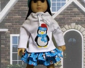 American Girl Doll Clothes:  Five Piece Penguin Set