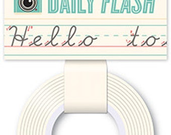 October Afternoon Daily Flash Washi Tape - Penmanship -- MSRP 4.00
