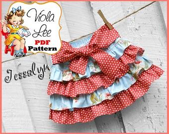 Jessalyn...Toddler Skirt Sewing Pattern. Girl's Skirt Pattern, Ruffle Skirt Pattern, Skirt Sewing Pattern, Twirl Skirt Pattern. pdf Pattern