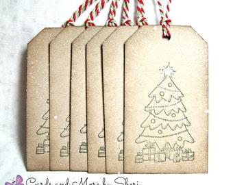 Christmas Tree Bracket Tags