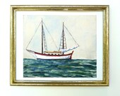 Sailboat Nautical Wall Art Print