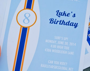 Surf Invitation by Bloom Designs Online