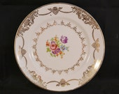 Stetson China Golden Beauty Dessert Plate, Salad Plate, 22K Gold Urns Scrolls Floral, Golden Beauty Replacement Piece