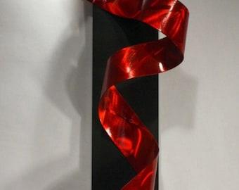 Metal Art - Wilmos Kovacs Abstract Metal Wall Sculpture Modern Art - Rainbow Decor Painting - Metal Sculpture - W932