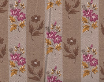 SALE, Floral Fabric, Encore for Free Spirit, Floral Fabric, Flower Stripes, Floral Print, 1 yard fabric, 01654
