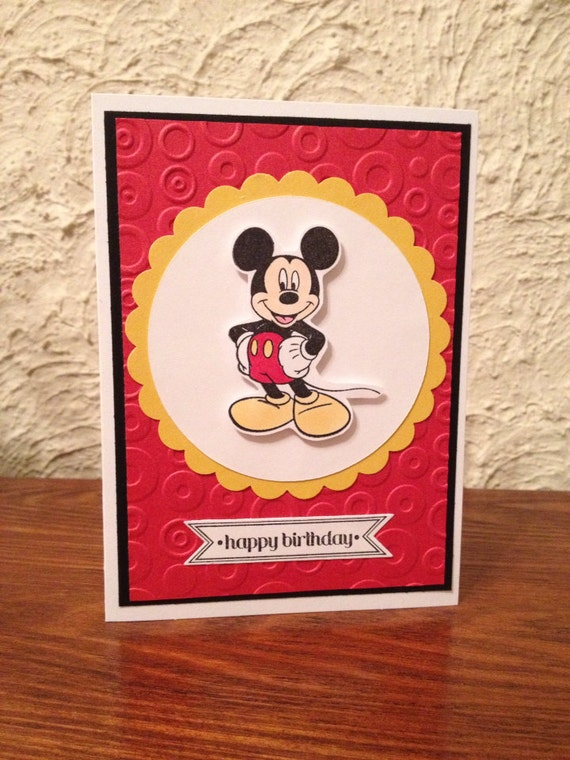 Happy Birthday Card for son daughter child Mickey Mouse