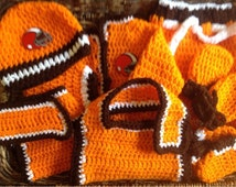 Cleveland Browns Inspired Football Baby Gift Set Crochet