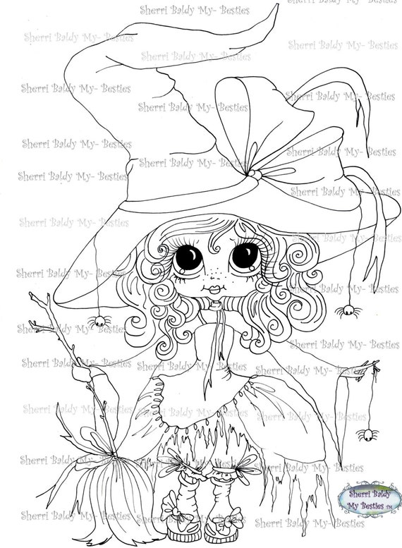 SOFORTIGER DOWNLOAD digitale Digi Stamps Big Eye Großkopf Dolls Digi meine - friends Spider Ella IMG046 von Sherri Baldy