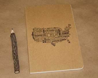 United States Map Travel Journal