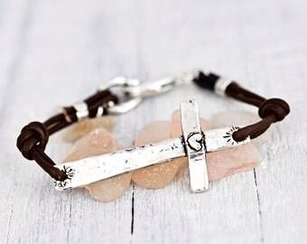 Faith Runs Deep Bracelet - Cross Bracelet -Inspirational Bracelet- Faith Jewelry - B436