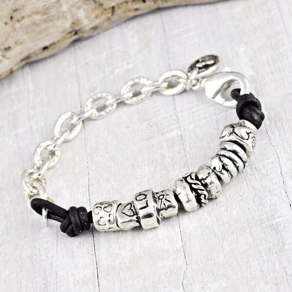 Heartfelt Bracelet - Cowgirl Jewelry - Handmade Jewelry-Leather Bracelet- B264