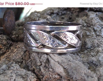 SALE Orange Blossom Sterling Silver Wedding Band