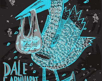 Dale Earnhardt Jr. Jr. Silk Screened Poster