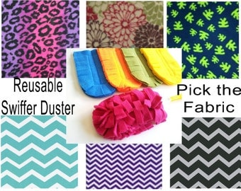 2 Reusable Swiffer Cover -Pick the colors- READY TO SHIP