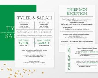bilingual invitation | etsy, Wedding invitations