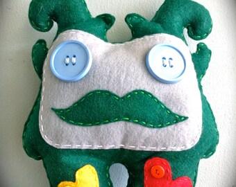 Green Felt Monster