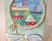 A Day at the Seaside!  Happy Birthday  Handmade