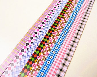 Origami Lucky Star Paper Strips Colorful Checks Design Gift Folding DIY - Pack of 160 Strips