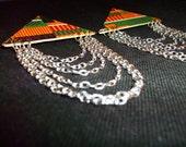 Kukaa Wood & Fabric Earrings
