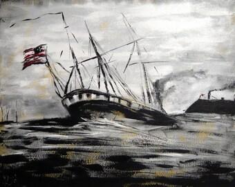 Battle of Hampton Roads-Sinking of the Cumberland