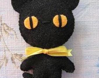 Haloween Cat , Black cat christmas tree ornament