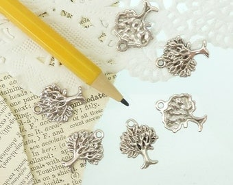 6 tree of life trees in  silver alloy