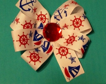 Red White and Blue Nautical Bow