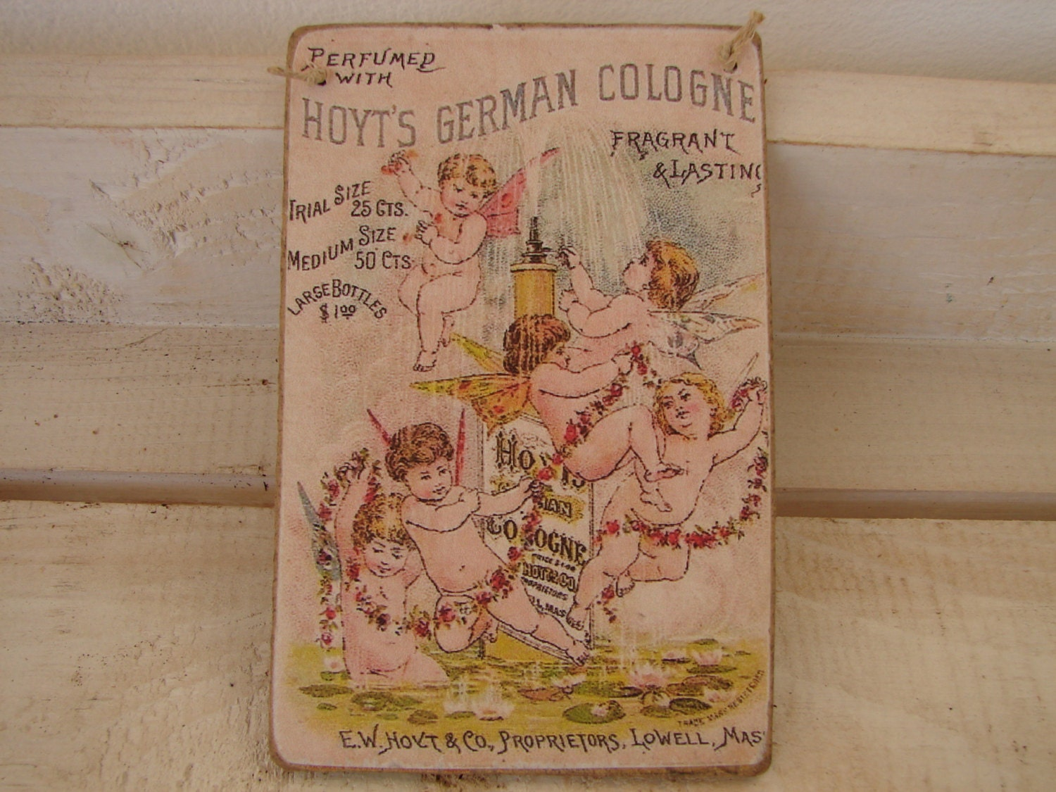 vintage cologne advertising hoyts german cologne cherubs. Black Bedroom Furniture Sets. Home Design Ideas