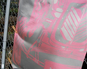 Miss Dior Vintage Silk Scarf Seventies Pink and Gray Put Put Roadster Image