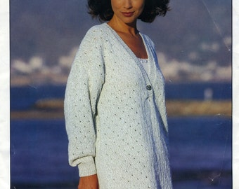 "Longline Tunic Knitting Pattern (To Extra Large) Sirdar 9728 (30-44"") [Pamphlet]"