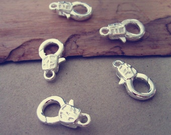 10pcs  Silver color lobster Clasps 9mmx17mm