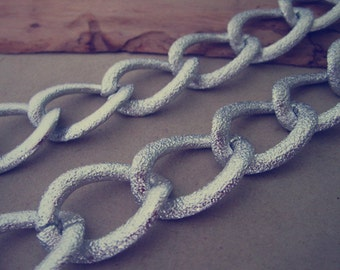 2m (6.5feet)20mmx29mm silver color  Aluminum chains