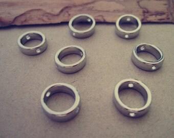 30pcs White K circular Jump Ring Link  11mm