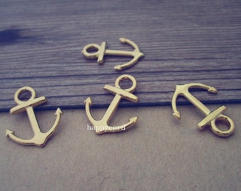 30pcs gold color anchor charm pendant  15mmx19mm  L228