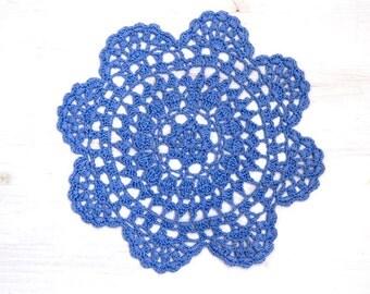 Lavender Crochet Doily hand dyed vintage Doily