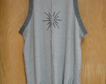 CLEARANCE grey upcycled layering piece made from a thermal skirt by  'Fitigues'