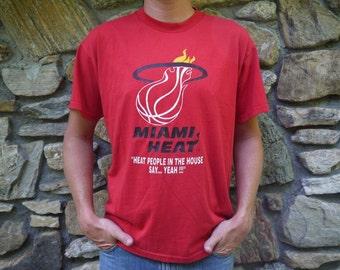 Vintage Miami Heat Basketball T Shirt