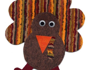 Turkey ornament/ door hanger handmade fabric
