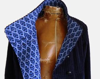 Swing Coat, Winter - Fall Jacket, Custom Designed , Women's Parka, Shown in Navy Blue Corduroy