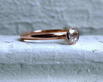 Rose Cut Diamond Solitaire.