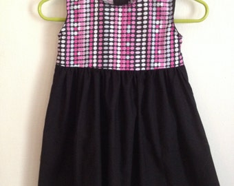 Pink Dots Girls Dress Size 6 and 12 Months