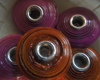 Large Hole Saucer shaped Paper Beads