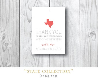 States Collection | Wedding Welcome Hang Tag | Printed by Darby Cards