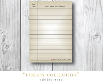 Library Collection | Advice Cards for Guest Book | Printed by Darby Cards