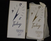 Vintage Appointment Phone Things to Do Book Set in Box NOS Ivory Made in Japan Gold Lettering