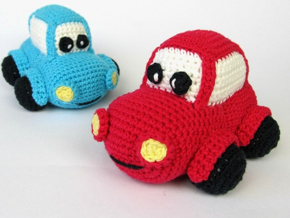 Coche Happy patron de Amigurumi ganchillo / PDF e-Book