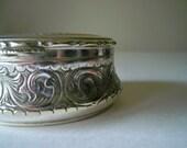 Vintage Shabby Silver Plate Trinket Box Guido Galbiati