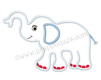 Animal Embroidey Applique Designs Zoo Animal Designs Safari Animal Designs - Elephant applique 4x4, 5x7, 6x10 hoops Instant Download